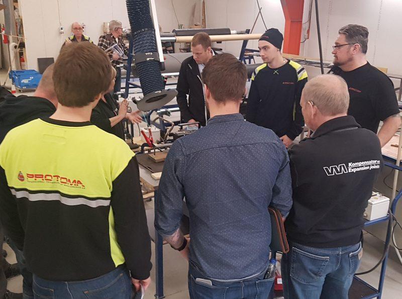 Partner training at VM Kompensator.