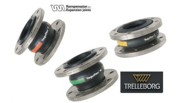 VM Kompensator A/S to distribute Trelleborg rubber expansion joints