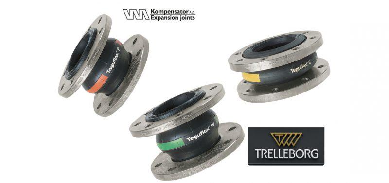 VM Kompensator A/S to distribute Trelleborg rubber expansion joints
